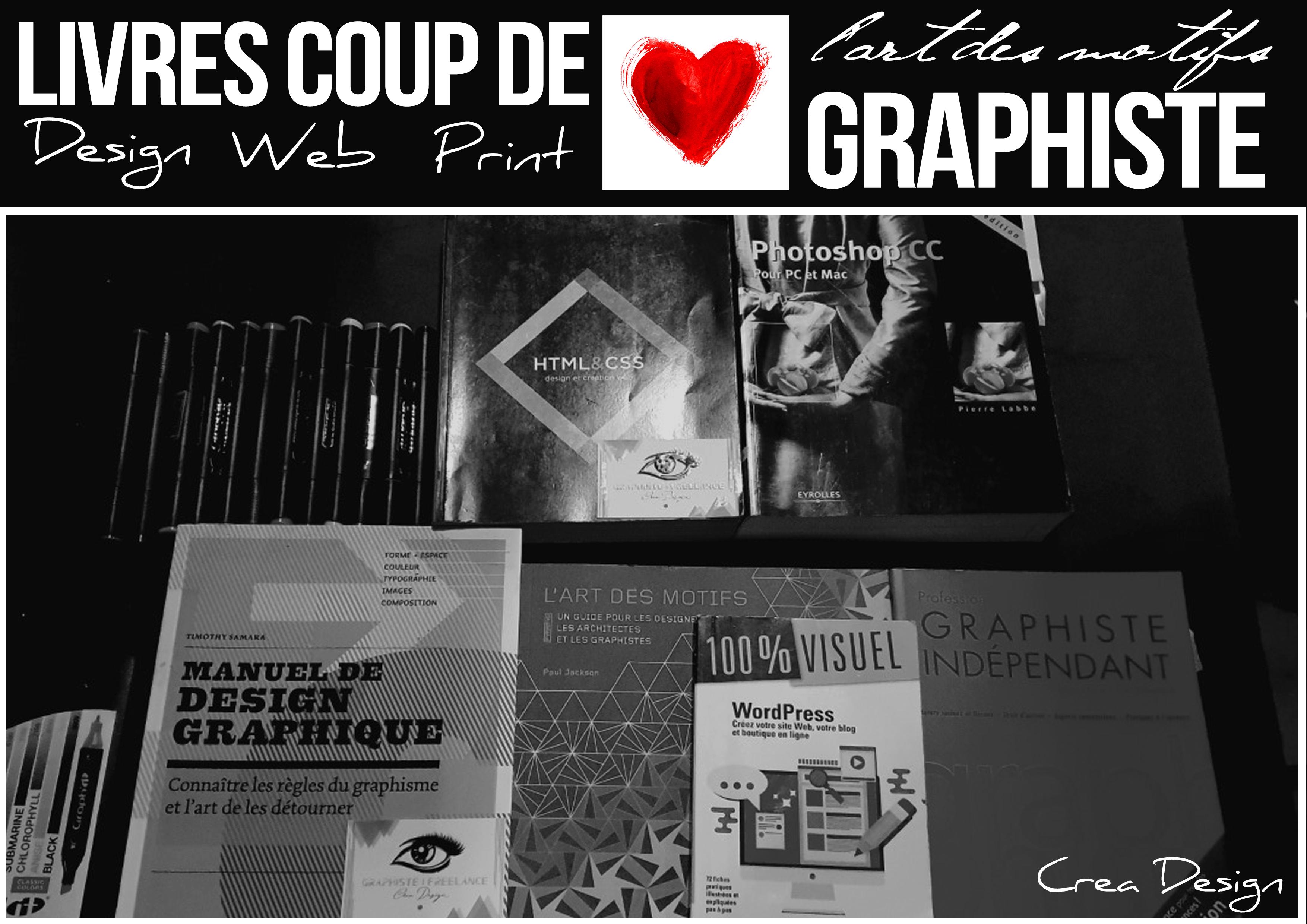 livres graphiste web et print